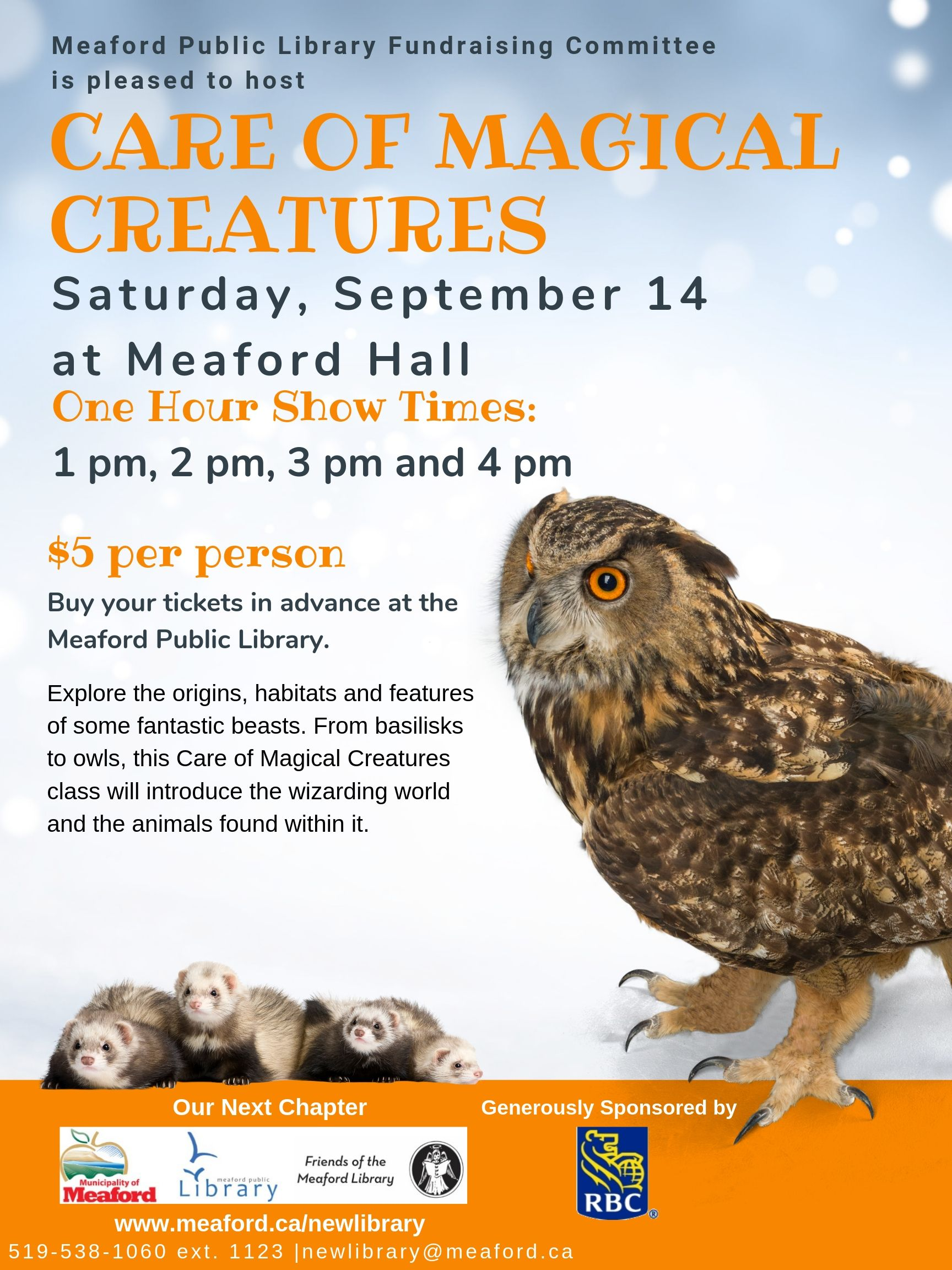 Care of Magical Creatures poster with Owl