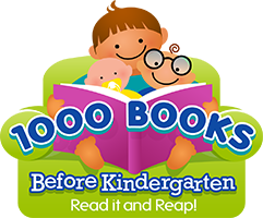 Official logo for the 1000 books before kindergarten program