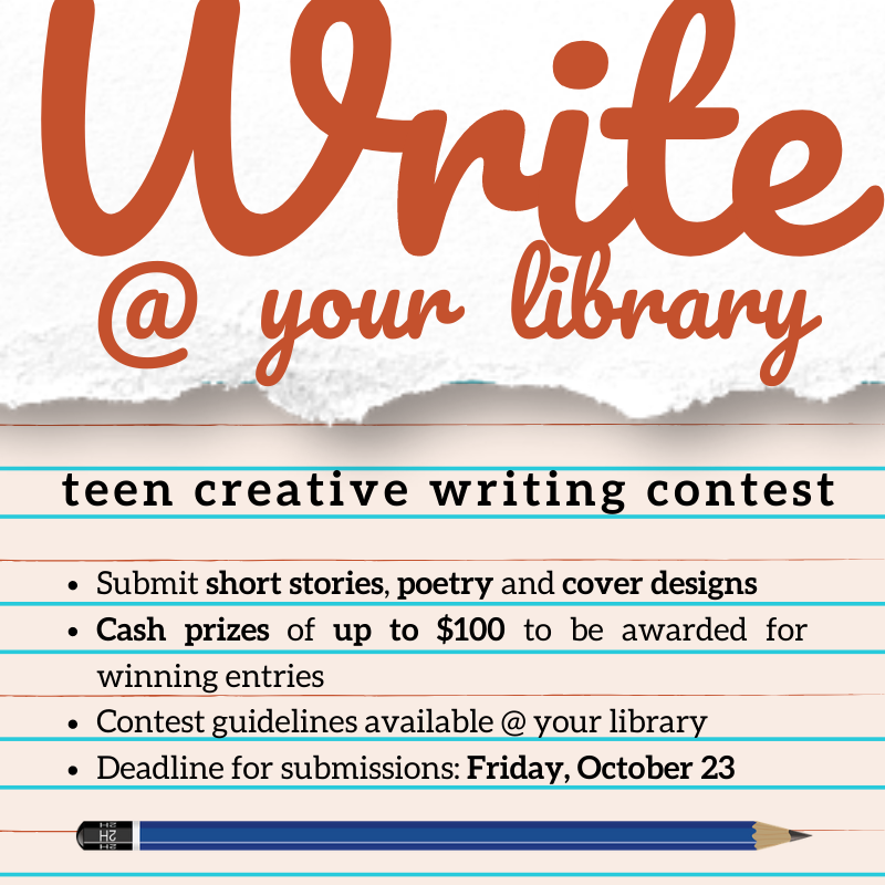 Write at your Library 2020 Contest poster
