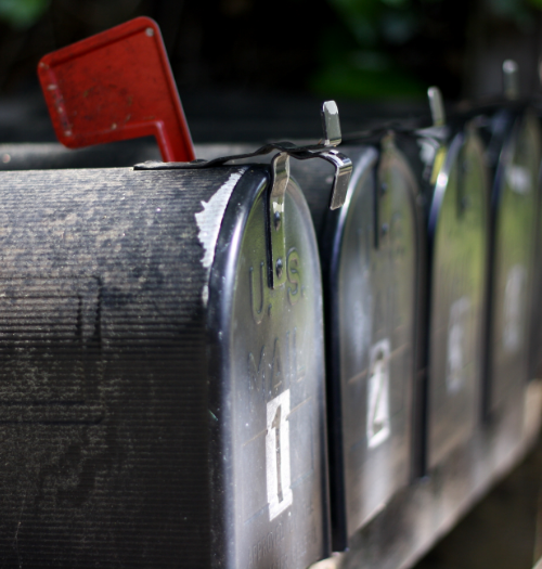 Picture of row of mailboxes