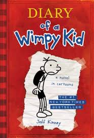 image of front cover of diary of a wimpy kid book