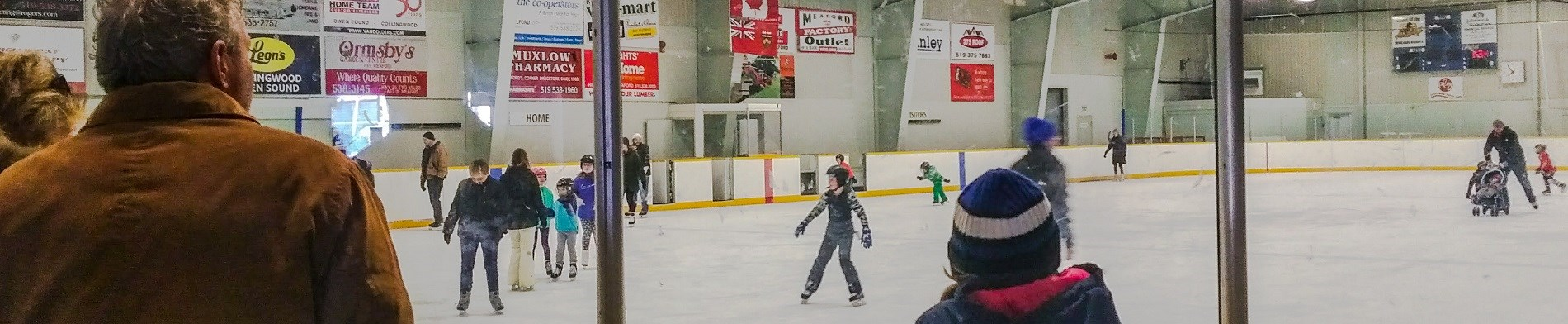 Children skating.