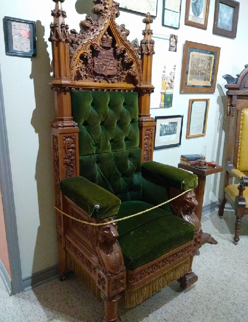 An ornate wooden chair