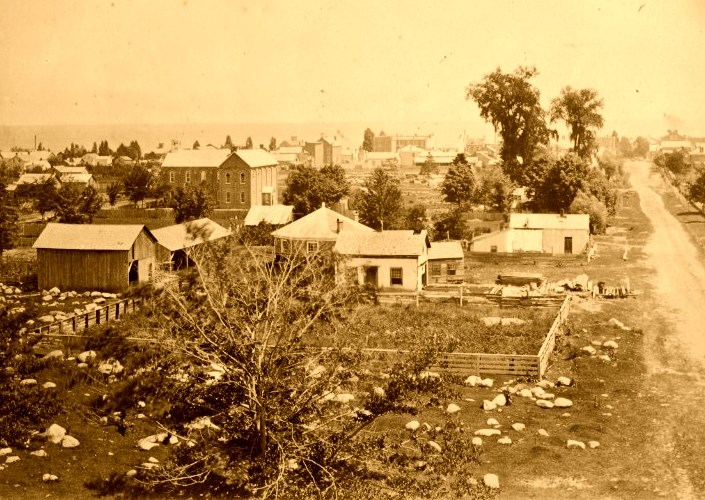 Photo of the town from late 1800's