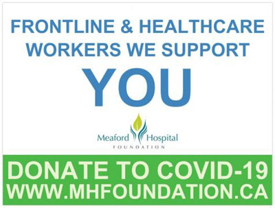 Healthcare Workers support sign