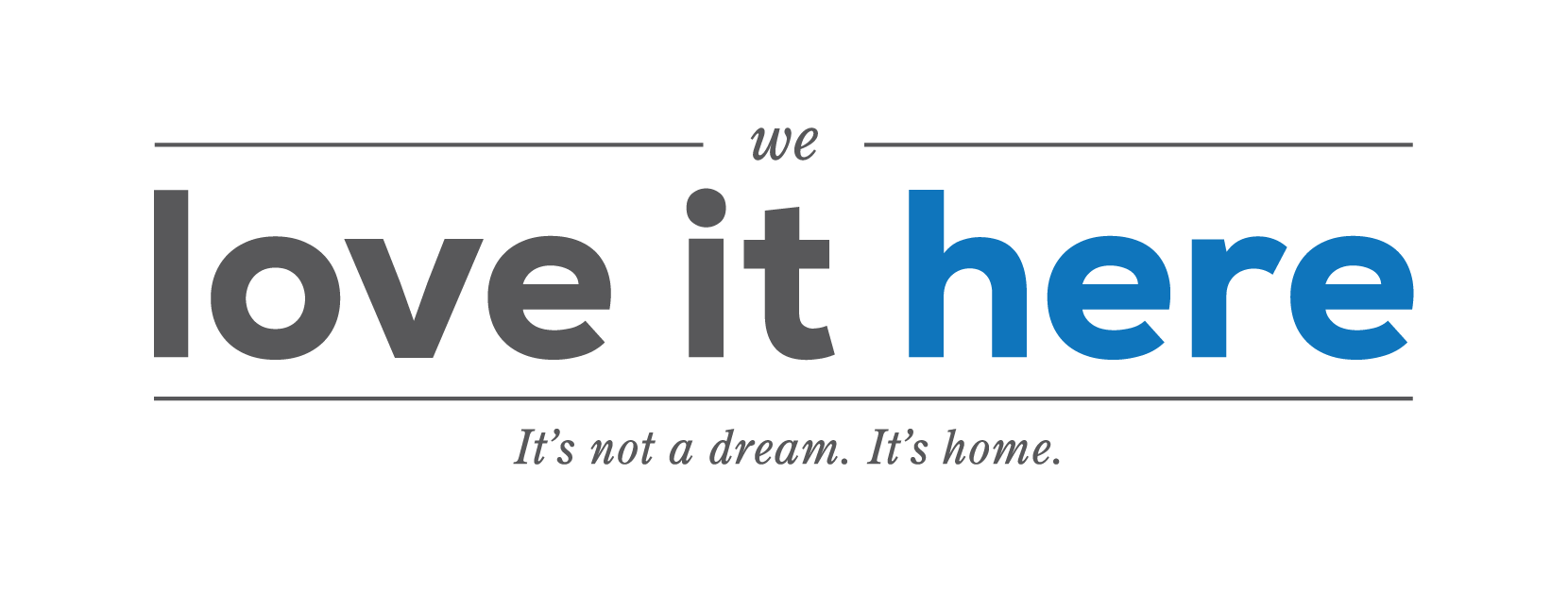We Love It Here logo